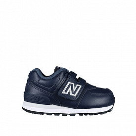 574 Navy/Leather TS