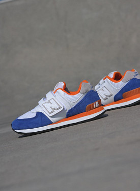 574 White/Blue/Orange PS