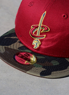 9fifty cavaliers bordeaux/camo Youth