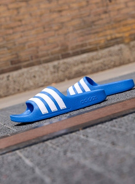 Adilette aqua blue white ps
