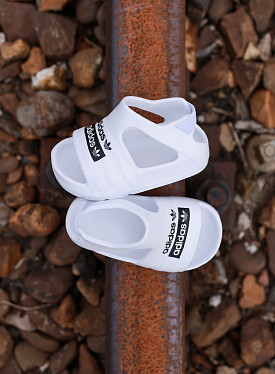 Adilette Play White/black TS