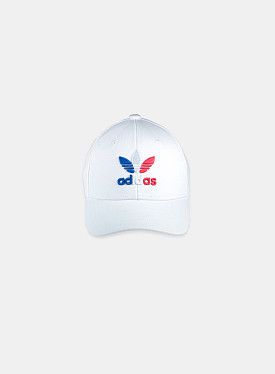 Baseball Cap White Royal Blue Child