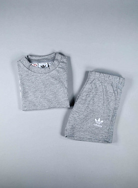 Big trefoil Set Grey/white TS