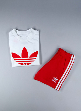 Big trefoil Set White/Red TS