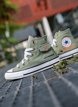 Chuck Hi pocket Army/Green PS