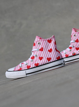Chuck Hi Striped/Hearts PS