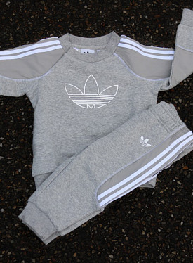 Crewneck Suit Grey/White TS