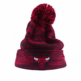 Cuff Knit Pom Bulls Red Youth