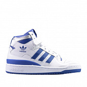 Forum Mid White/Croyal-Blue Kids