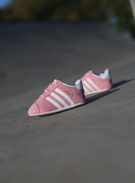 Gazelle pink/white crib