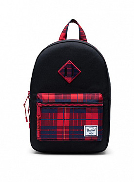 Heritage kids black/plaid