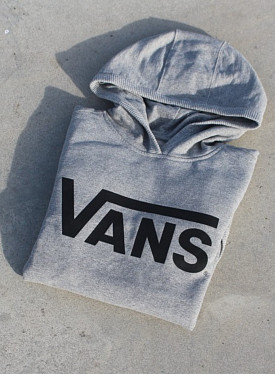 Hooded Sweater Vans Grey Kids