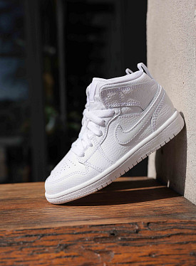 Jordan 1 mid white PS