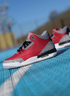 Jordan 3 fire red/cement GS