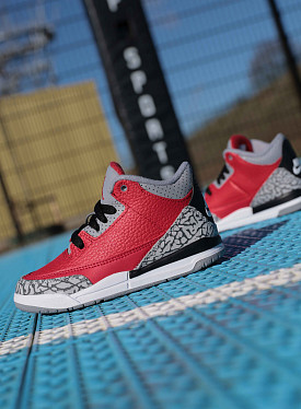 Jordan 3 fire red/cement PS