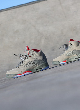 Jordan 5 River Rock Camo/Olive GS