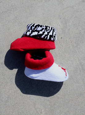 Jordan baby bootie red/white