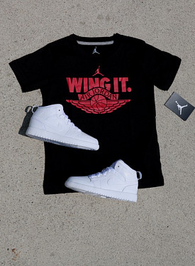 "Jordan ""wing it"" Black/Red PS"