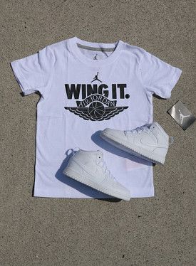 "Jordan ""wing it"" White/Black PS"
