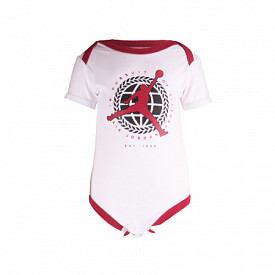Jordan romper jump white/red