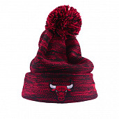Marl Knit Pom Bulls Red Youth