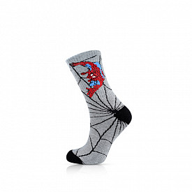 Marvel Spiderman Crew-sock Heather Grey