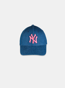 New York Yankees 9FORTY Wash Denim Pink Child