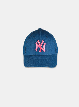 New York Yankees 9FORTY Wash Denim Pink Youth