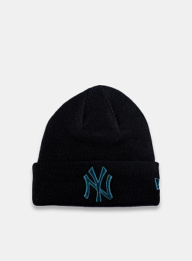 New York Yankees Essential Beanie Black Blue Youth