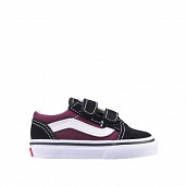 Old Skool Black/Burgundy TS