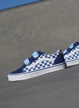 Old skool Checker/Navy Velcro GS