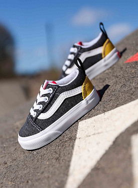 Old skool elastic Dark Grey/Red/Yellow TS
