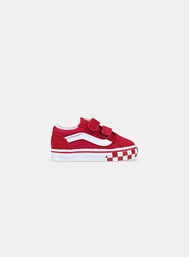 Old Skool V Checkerboard Bumper Chilli Pepper White TD