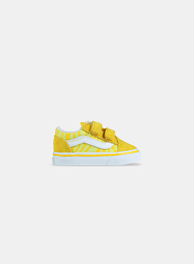 Old skool V Neon Animal Zebra Yellow TD