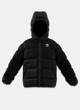 Puffer Jacket Black White Reflective PS