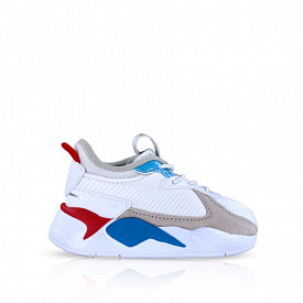 RS-X Monday White/High Risk Red TD