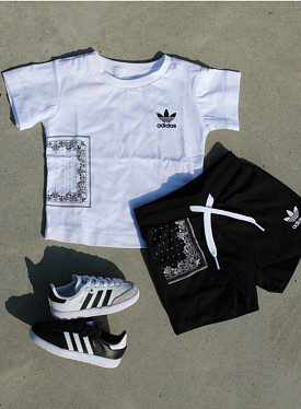 Set Bandana White/Black TS