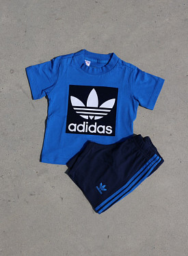 Short tee set blue/navy  ts