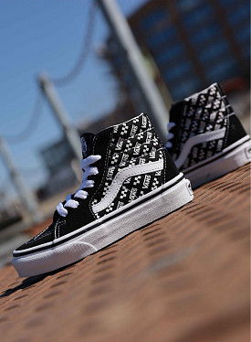 Sk8-hi black/white logo PS