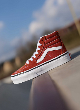 Sk8-hi picante-red/white PS