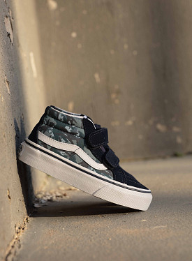 Sk8 mid animal blue/camo PS