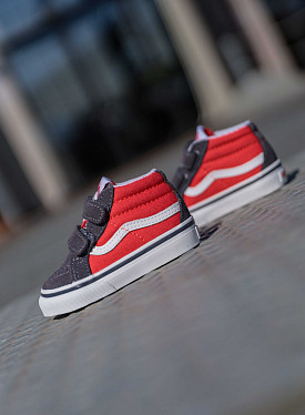 Sk8-mid Red/Grey TS