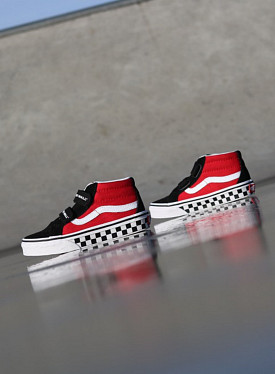 Sk8-mid Reissue Red/Black Checker PS