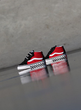 Sk8-mid Reissue Red/Black Checker TS