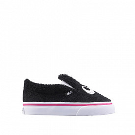 Slip-on Friend Black/Faux Fur TS