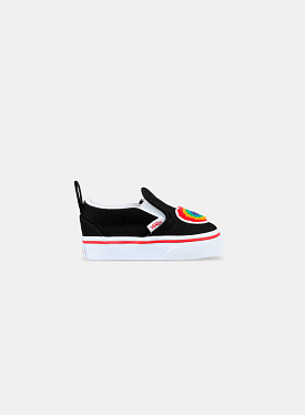 Slip-On V Chenille Rainbow Heart True White TD