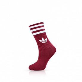 Solid Crew Socks 3-pack Burgundy/White/Red