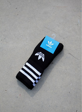 Solid crew socks black 27-30