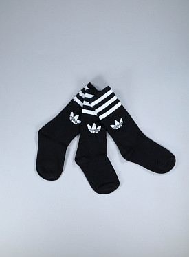 Solid crew socks black 3-pack