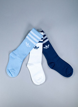 Solid crew socks blue 3-pack